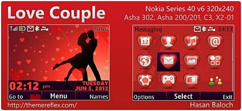 themes love kiss nokia love couple theme for nokia asha 302 c3 00 x2 01 320