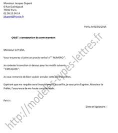 Exemple De Lettre Contestation Amende Exemple Lettre Contestation Pv