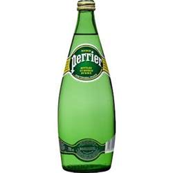 Perrier Sparkling Mineral Water France 750ml Glass