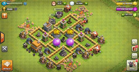 layout editor coc th 5 farming base clash of clans th 5 design base clash of