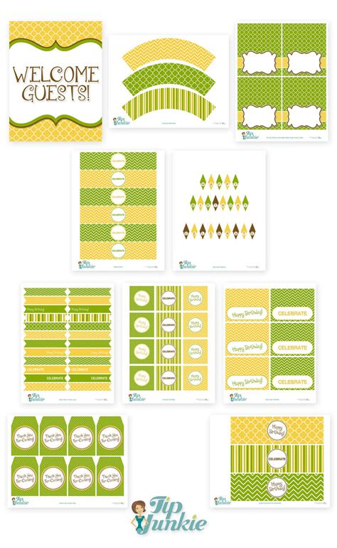 11 piece birthday party printable set instant download 11 piece birthday party printable set instant download