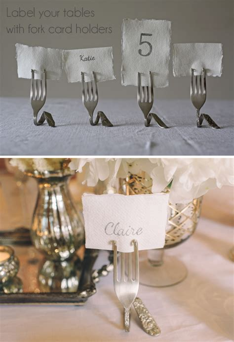 table number card holders silver fork card holders wedding table number holders