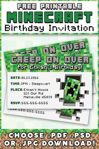 minecraft birthday invitations free template 25 best ideas about minecraft invitations on