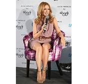 Coincidence Kylie Minogue Flashes Her Knickers As She Promotes Sloggi
