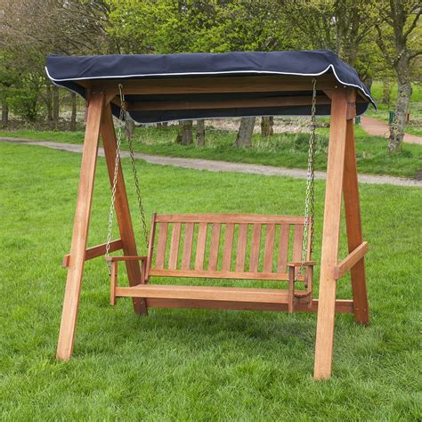 lawn swing wood patio swing with canopy instant knowledge