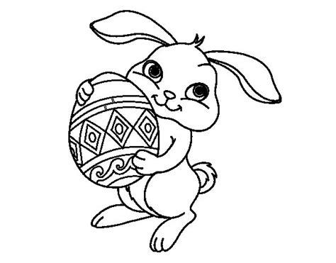 imagenes para pintar huevos de pascua dibujo de conejo con huevo de pascua para colorear
