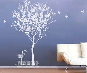 white tree wall stickers white tree with birds wall decals flickr photo sharing