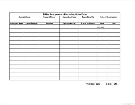 sle fundraiser order form template sle templates