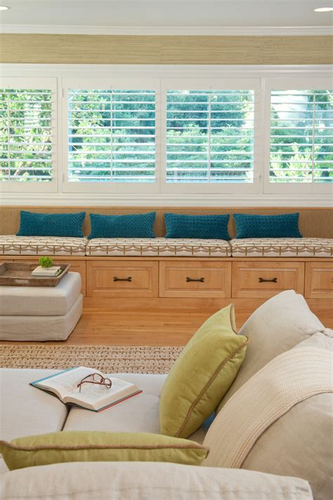 living room window bench window seats with storage spaces traditional with bay