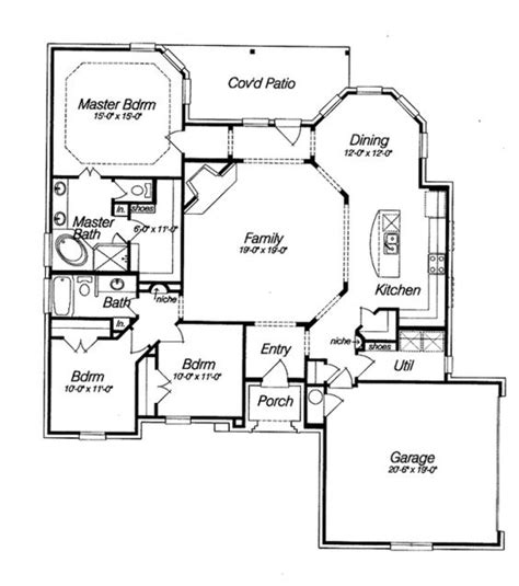 open kitchen house plans open floor house plans beautifull open floor plan hwbdo14810 country house plan