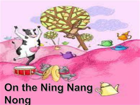 printable version ning nang nong on the ning nang nong by choralsongster uk teaching