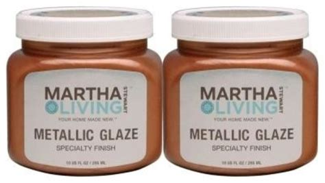 martha stewart living 10 ounce copper metallic glaze paint contemporary paint by the