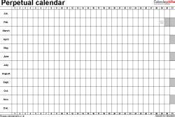 perpetual calendar 7 free printable excel templates