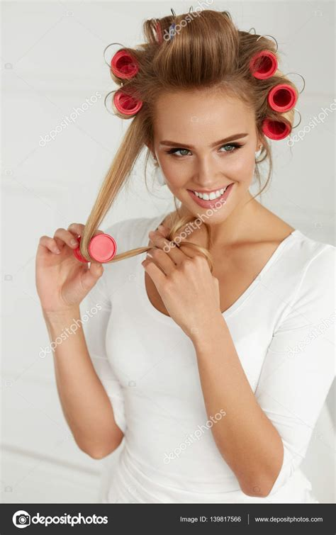 curly hair rollers   Short Curly Hair