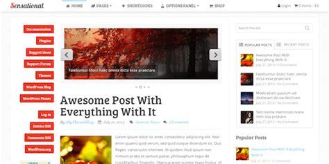 sensational theme sensational magazine wordpress theme review 2017