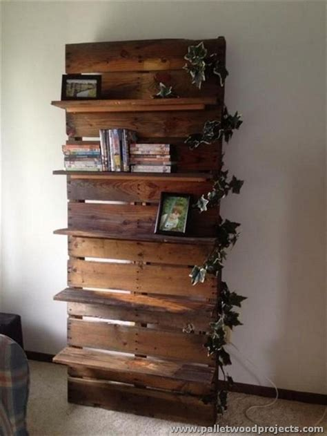 pallet crafts projects ideas for wooden pallet shelves pallet wood projects