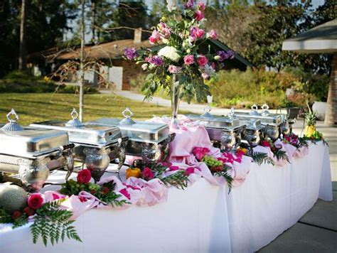 buffet table setting ideas chairs set up for an event in