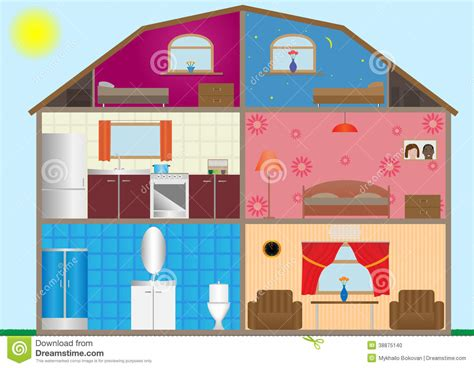 house interior vector house interior stock illustration image 38875140