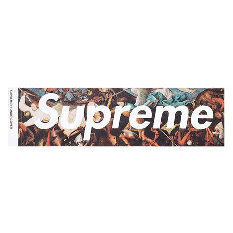 supreme logo 楽天市場 supreme シュプリーム 215 undercover アンダーカバー box logo sticker