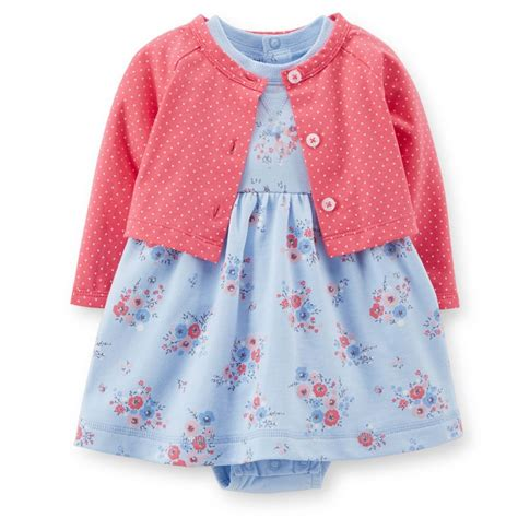 carters 9 12 months terry dress cardigan set baby
