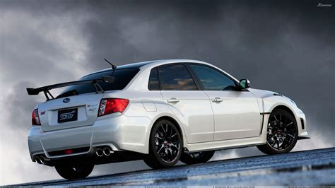 white subaru wrx subaru impreza wrx sti s206 in white pose wallpaper