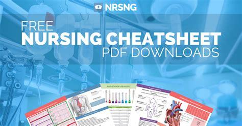 Detox Medications For Nursing by Free Nursing Sheet Downloads