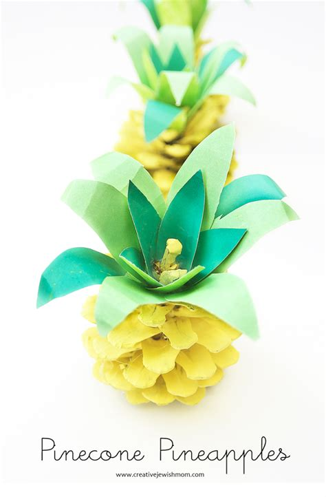 Paper Pineapple Craft - pineapple crafts projects you will to make