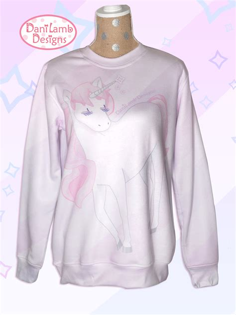 Unicorn Sweatshirt kawaii unicorn sweater all print unicorn sweatshirt