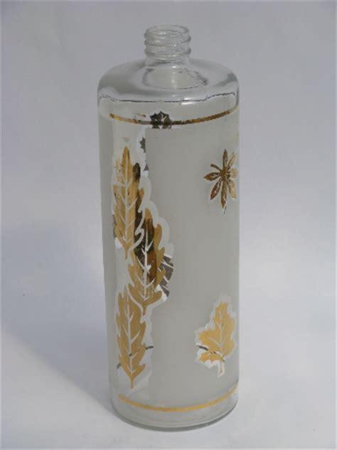 gold leaf pattern glasses libbey golden foliage gold leaf pattern glass decanter