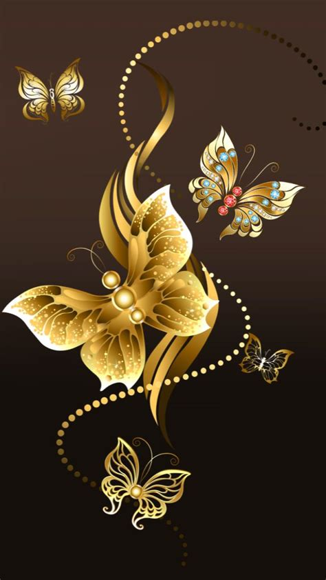 wallpaper gold butterfly 17 best images about bling hello kitty ipod iphone