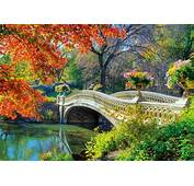 Romantic Bridge Autumn Season HD Wallpaper