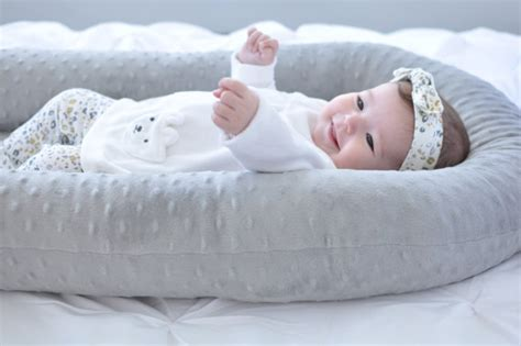 pillow for baby to sleep in bed cosleep baby bed white and gray cosleeping baby pillow
