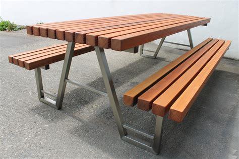Stühle Outdoor by Gartenmobel Holz Tisch Und Bank Bvrao