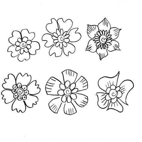 how to do a flowers doodle 25 best ideas about doodle flowers on doodle