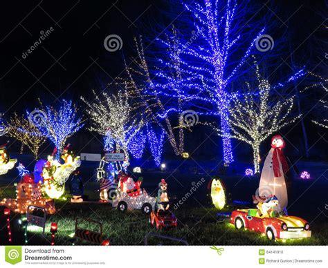 backyard christmas decorations editorial image image