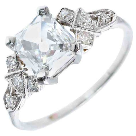Platinum Square 2 platinum square engagement rings wedding and bridal inspiration