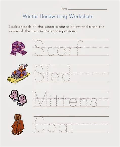 kindergarten handwriting worksheets hand writing