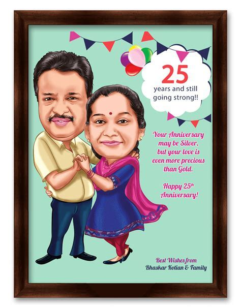Elegant 25th Wedding Anniversary Gift Ideas for Couples In