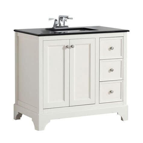 36 Granite Vanity Top by Simpli Home Cambridge 36 In W Vanity In White With