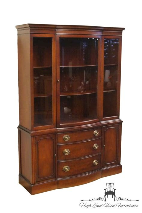 High End Used Furniture   DREXEL Travis Court Mahogany Duncan Phyfe Bow Front 48? China Cabinet
