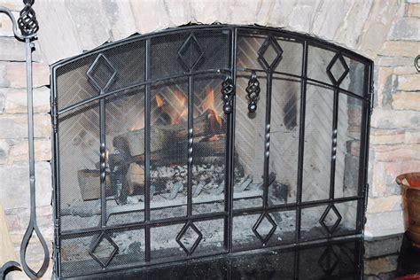 fireplace screen on custom fireplace quality