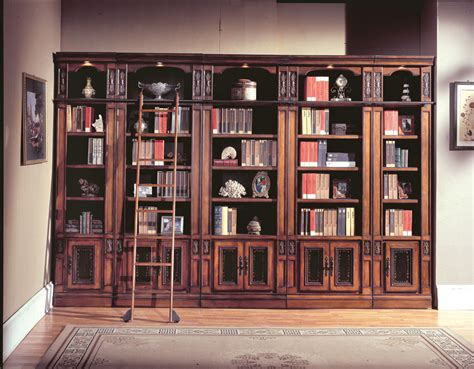 Library Bookcases With Ladder House Davinci Library Bookcases Ph Dav420 430 6 At Homelement