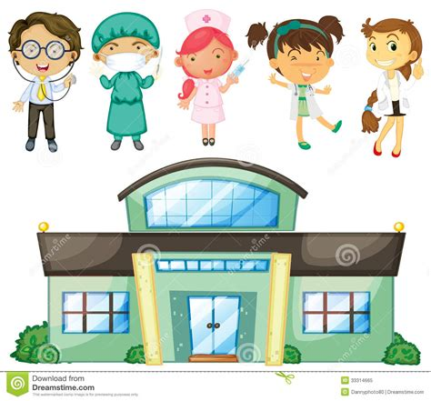Nursing Home Design Plans by Doctors And Nurses At The Hospital Stock Vector Image