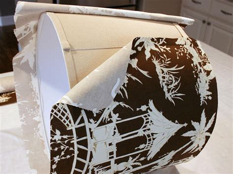 Handmade Fabric Lshades - custom fabric covered lshade hgtv