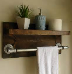 bathroom shelf towel bar simply modern rustic bathroom shelf with 18 quot industrial