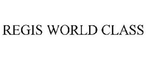 world class regis regis world class trademark of regis serial