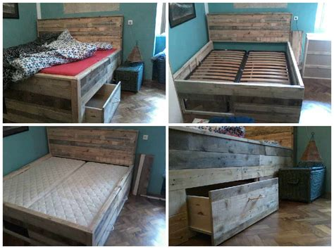 pallet bed with drawers 1001 pallets