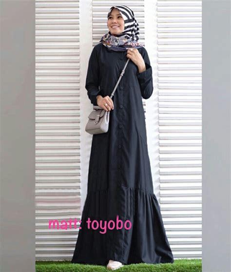 Baju Gamis Katun Warna Hitam baju gamis modern polos rayna maxi busana muslim remaja