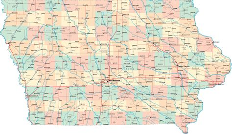 State Of Iowa Records Map Of Iowa Highways My