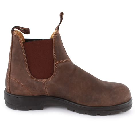 blundstone boots blundstone 585 mens chelsea boots in brown